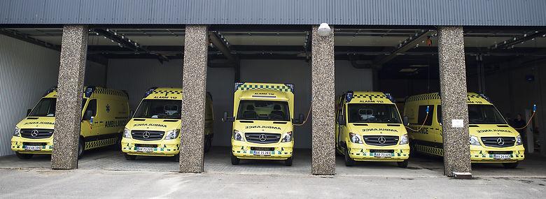 falck transport til sygehus