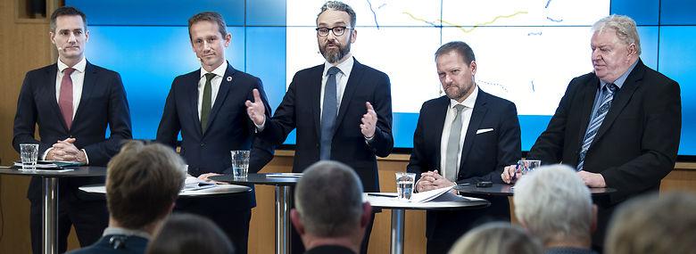 Regeringen har sammen med DF fremlagt sin trafikplan, og nu vælter reaktionerne ind.<br />Foto: Liselotte Sabroe, Ritzau Scanpix