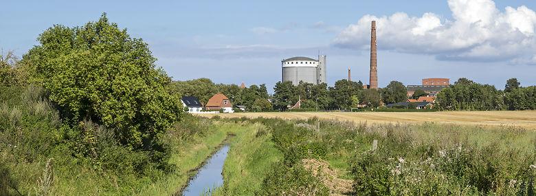 Den nedlagte sukkerfabrik i Stege blev etableret i 1884 og lukkede for 30 år siden.<br />Foto: Johnny Madsen, Ritzau Scanpix