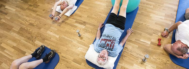 Rehabiliteringsgruppe efter kræftforløb -  i Søborg.<br />Foto: Søren Bidstrup