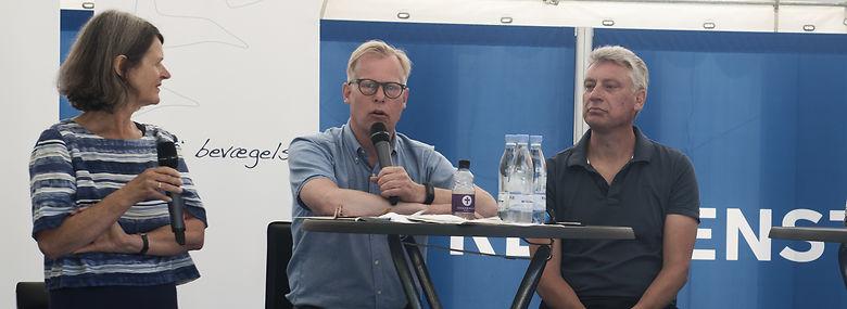 Holger Schou Rasmussen (S) til højre - i debat på Folkemødet 2017 med Carl Holst (V)<br />Foto: Kenneth Lysbjerg Koustrup, Ritzau Scanpix