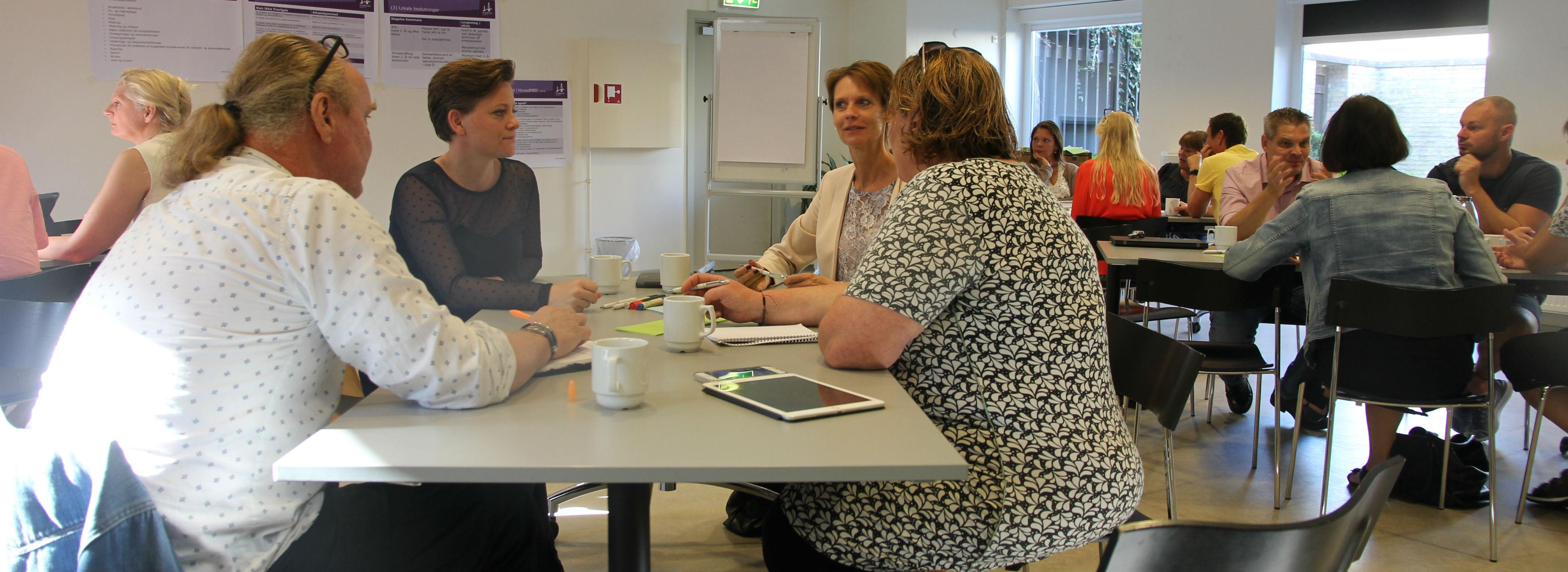 Strategimøde i Slagelses HovedMED mandag morgen.<br />Foto: Niels Lassen, Slagelse Kommune
