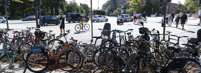 Efterladte cykler er et voksende problem i København.<br />Foto: Christian Lindgren, Ritzau Scanpix