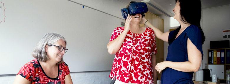 Silkeborg Kommune bruger Virtual Reality til at hjælpe unge med social angst. <br />Foto: Silkeborg Kommune