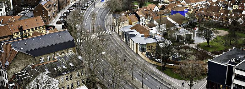 Området omkring den firsporede Thomas B. Thriges Gade i Odense undergår store forandringer.<br />Foto: Katinka Hustad, Ritzau Scanpix