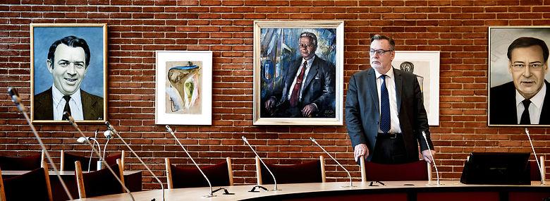 Ole Bjørstorp i byrådssalen i Ishøj.<br />Foto: Linda Kastrup, Ritzau Scanpix