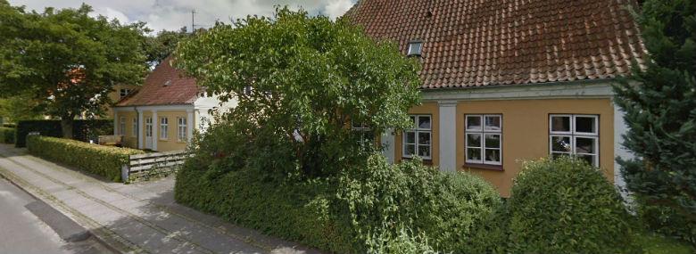 Valdemar Sejrs Allé fra Tangekvarteret i Ribe.<br />Foto: Fra Google Maps.