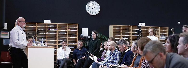 Lærerkommissionens anbefalinger blev præsenteret af kommissionens formand Per B. Christensen.<br />Foto: Niels Christian Vilmann, Ritzau Scanpix
