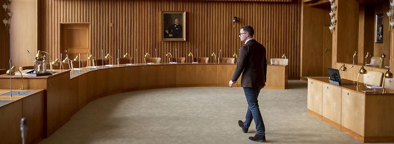 Simon Aggesen (K), da han tiltrådte som politisk overhovede på Frederiksberg i marts 2019.<br />Foto: Linda Kastrup, Ritzau Scanpix