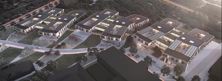 Visualisering af Ny Psykiatri Bispebjerg.<br />Foto: Region Hovedstaden