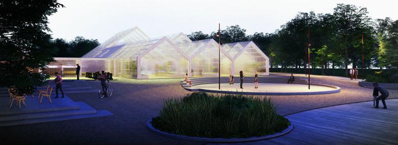 Den grønne Arena, Kildeparken i Aalborg Øst skal indrettes til fysisk aktivitet året rundt.<br />Foto: Keinart