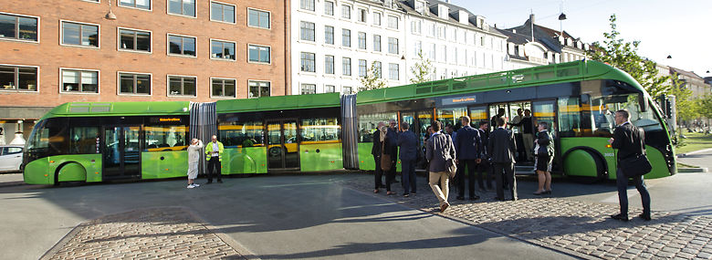 Eksempel på BRT-bus. (BRT = Bus Rapid Transit)<br />Foto: Jens Astrup, Ritzau Scanpix