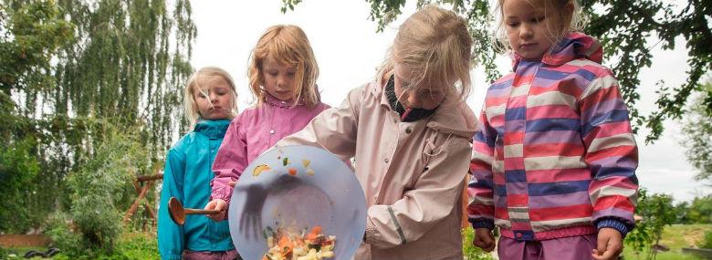 Børnehave-børn skal også  involveres i fødevareprojektet FoodSHIFT2030 i Lejre og Københavns  kommuner de kommende fire år.<br />Foto: Lejre Kommune