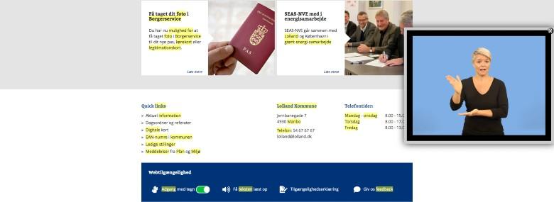 <br />Foto: Screenshot fra Lolland Kommunes hjemmeside