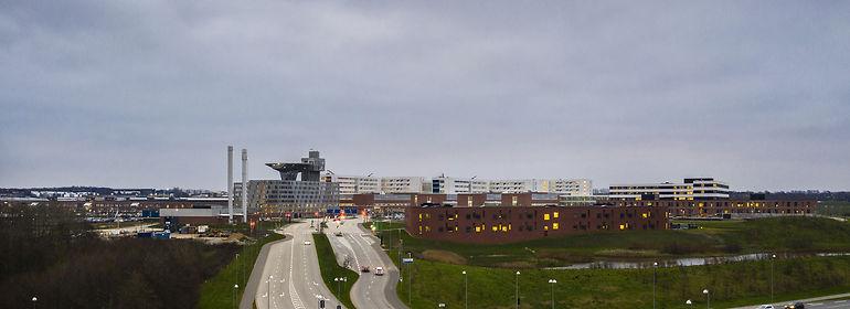 Aarhus Universitetshospital i Skejby er landets første supersygehus.<br />Foto: Mikkel Berg Pedersen, Ritzau Scanpix