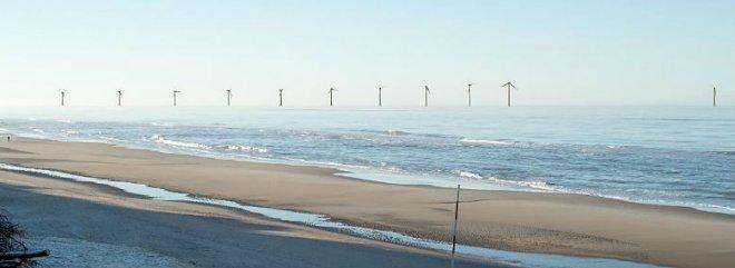 Ringkøbing-Skjern ønsker kystnære møller længere ud på havet