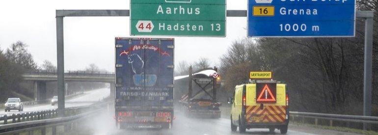 E45  udvides med regeringens nye trafikplan.<br />Foto: Finn Byrum, Ritzau Scanpix