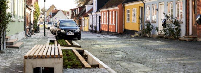 Fra projektet Vandvejen på Søndergade i Middelfart (www.vandvejen.dk)<br />Foto: Brian Jensen, Realdania.