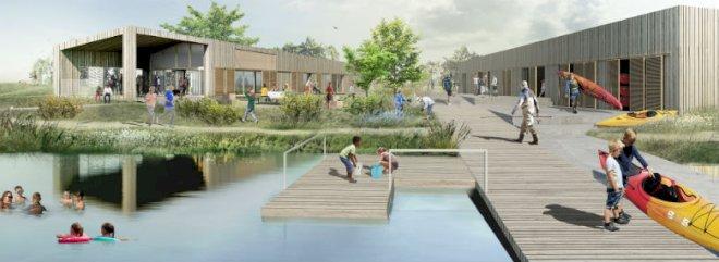 Kunstig sø i Herning skal forvandles til udemekka