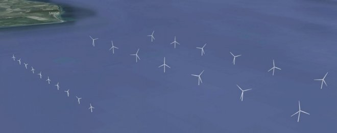 De ti havmøller sydøst for Samsø på vej mod fordobling