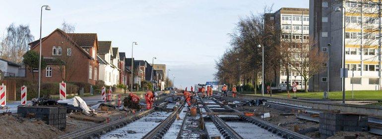 Letbane-byggeriet står stille flere steder i Odense.<br />Foto: Christian Nordholt, Jysk Fynske Medier/Ritzau Scanpix