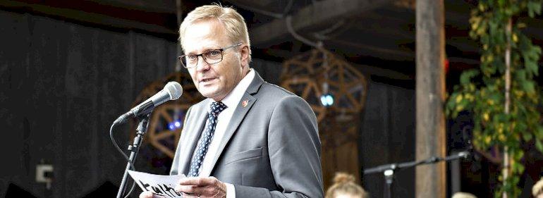Borgmester på Mors Hans Ejner Bertelsen (V) - her under Kulturmødet i 2018.