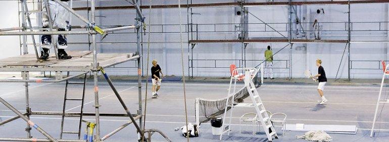 Tennishal i Højbjerg.<br />Foto: Casper Dalhoff, Ritzau Scanpix