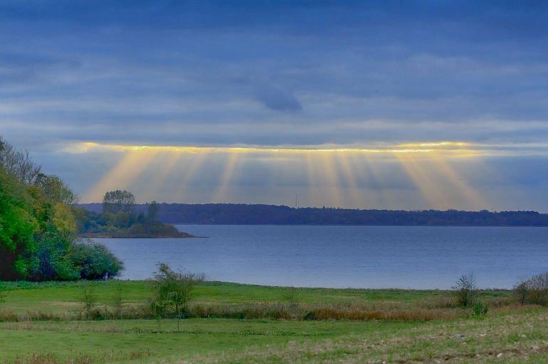 Sol over Orø.