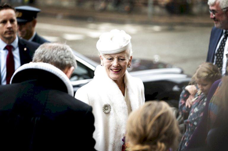 Dronning Margrethe nåede at deltage i festgudstjeneste i Vor Frue Kirke i januar i anledning af Genforeningen, inden corona fik indflydelse på programmet.