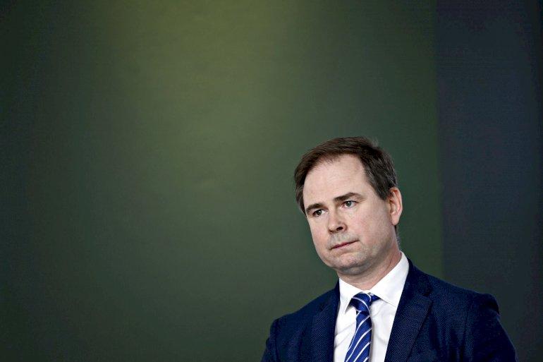 Finansminister Nicolai Wammen (S) på pressemøde torsdag den 9. marts. med opdatering om den danske økonomi.