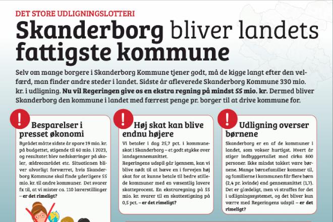Skanderborgs potentielle fattigdom er nu et spørgsmål