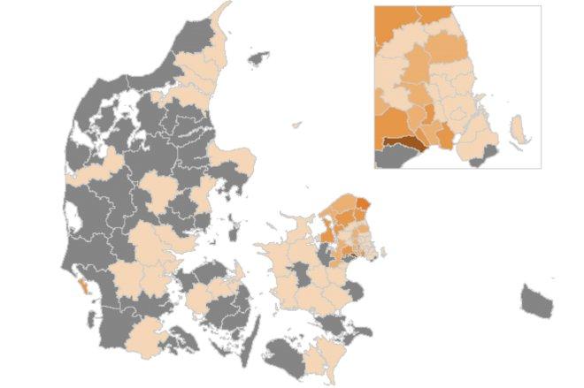 43 kommuner er uden nye smittede den seneste uge