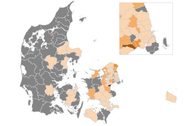 53 kommuner har været uden nye smittede i en uge