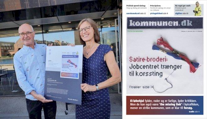 Kommunen.dk vinder sølv for forsidebroderi