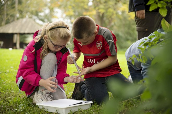 De yngste i skolen ud i naturen som mikroforskere