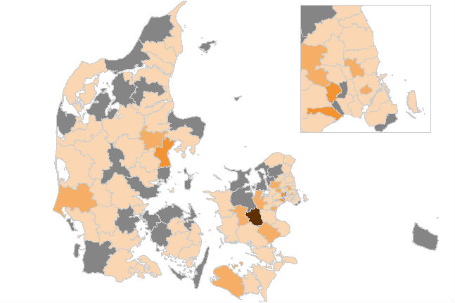 Det går den forkerte vej med smittetallene - især i Aarhus og Ringsted