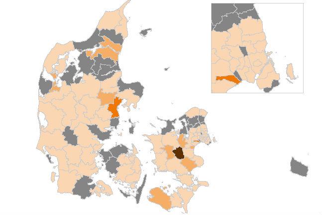 Højeste smittetal i tre måneder - flest i Aarhus