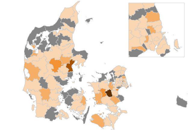 Smittetal stiger igen - også Silkeborg er nu ramt