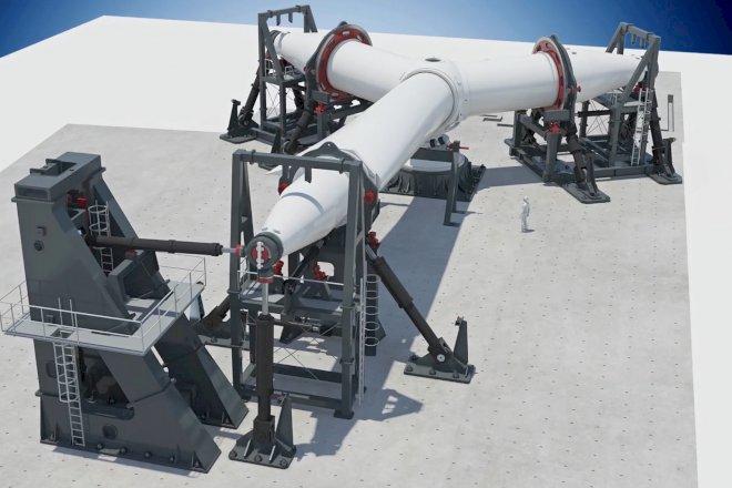 LM Wind Power bygger verdens største rotor-testrig