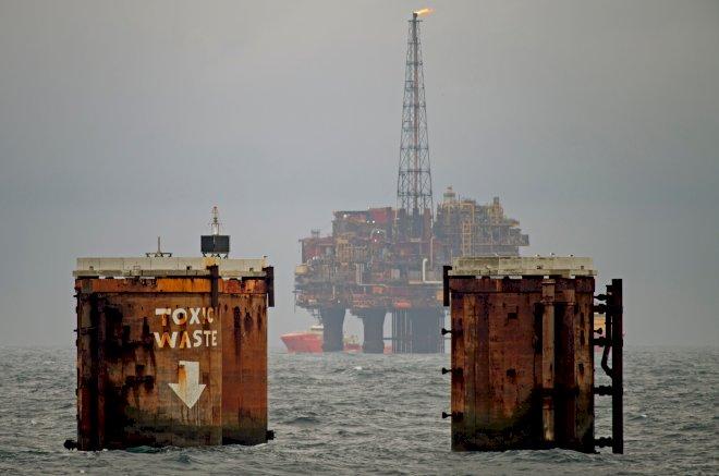 Greenpeace i ny aktion i Nordsøen