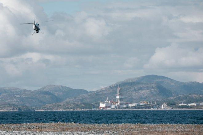 Equinor gennemfører historisk drone-levering