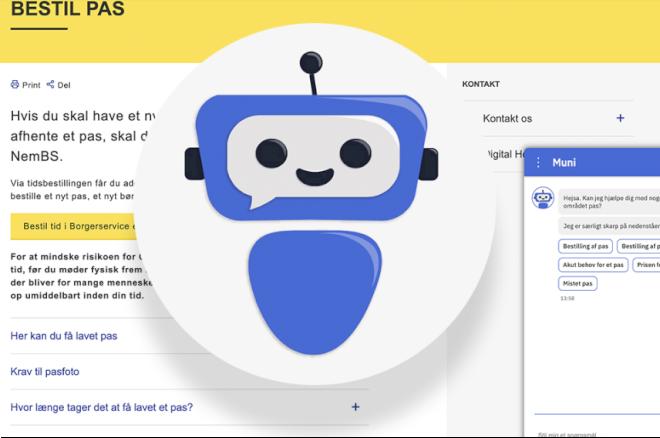 Robot er klar til at svare på spørgsmål i 43 kommuner