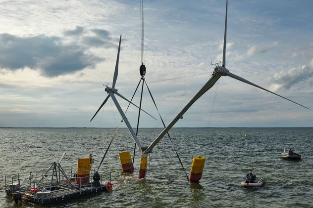 To-hovedet vindmølle skal testes i Østersøen