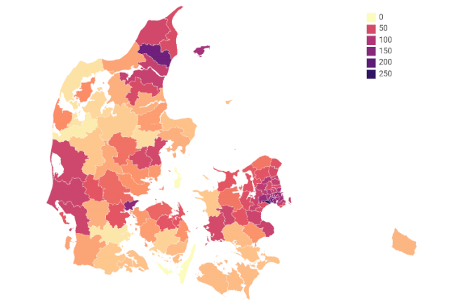 Høje smittetal i Aalborg og Høje-Taastrup