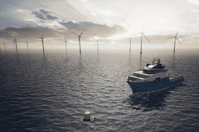 Ørsted og Maersk tester offshore ladestation til skibe