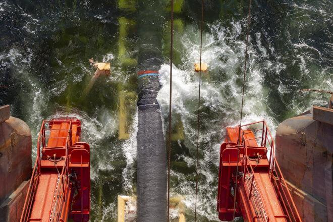 Gazprom genoptager arbejdet på Nord Stream 2