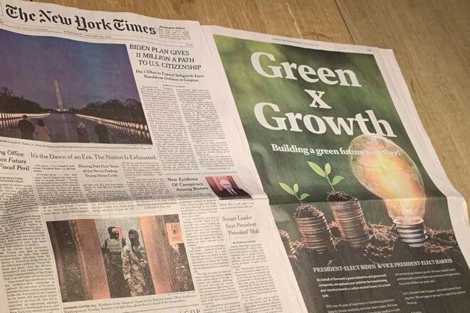 Danske virksomheder indbyder Biden til samarbejde i NY Times