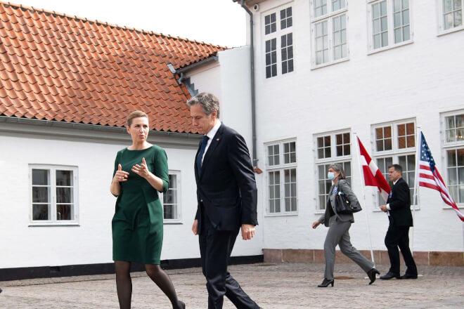 Mette Frederiksen talte om klimaløsninger og Arktis med USAs udenrigsminister