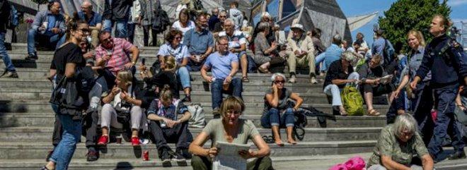 DK Medier på Folkemøde med festival-aviser og 18 debatter